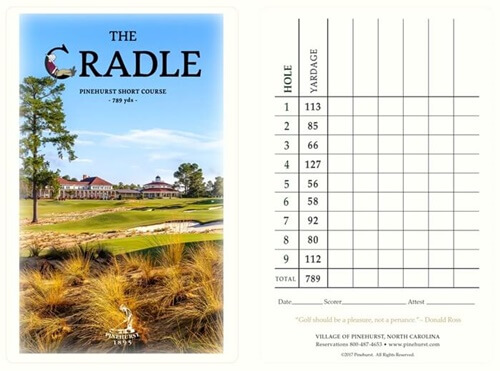 the cradle course scorecard